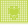 Green background with heart shapes — Stock Vector #69805305