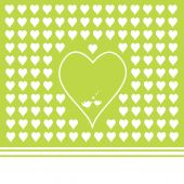 Green background with heart shapes — Stock Vector