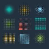 Halftone patterns — Stock Vector