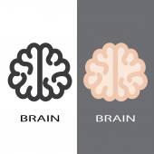 Brain symbol — Stock Vector