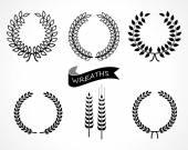 Wreaths — Stock Vector