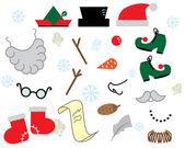 Christmas props — Stock Vector