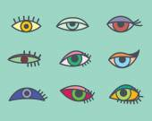 Eyes icons — Stock Vector