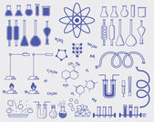 Chemistry subjects — Stock Vector
