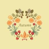 Autumn wreath — Stock Vector