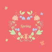 Spring wreath — Stock Vector