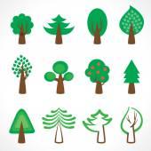 Tree icons — Stock Vector