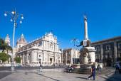 Catania town main square center — Stock Photo