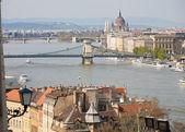 Budapest with the Chain Bridge — Photo