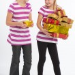 Two Girls compare their gifts — Stock Photo #64324747