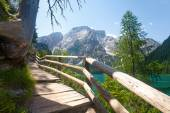 Hiking trail in the Dolomites — Stock Photo
