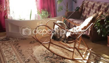 Rocking chair — Stock Video