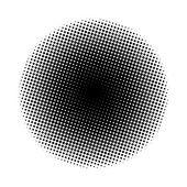 Halftone circle — Stock Photo