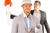 Close up Middle Age Male Engineers — Stock Photo