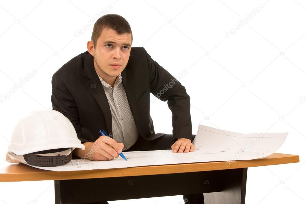 considerado joven arquitecto o Ingeniero � Foto stock � Vaicheslav ...