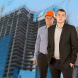 Group of three engineers and architects — Stock Photo #55007205