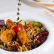 Shrimp and Noodles in Bowl — Stock Photo #55009025