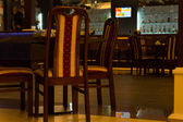 Tables in Empty Bar Room — Stock Photo