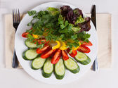 Overhead of Colorful Salad — Stockfoto