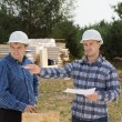 Building foreman giving instructions — Stock Photo #56492739