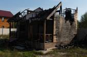Extensive Fire Damaged Real Estate Property — Stock Photo