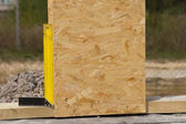 Right angle or set square on a building site — Stock Photo