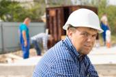 Middle Age Male Engineer at Site — Stock Photo