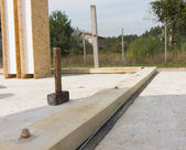Mallet Tool at the Building Construction Site — Stock Photo