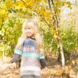 Smiling Little Young Girl at the Woodland — Stock Photo #57398687