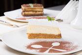 Slice of tangy lemon cheesecake — Stock Photo