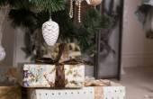 Decorative Christmas gifts — Stock Photo