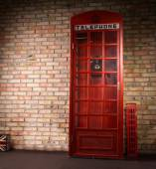 Replica iconic British telephone booth — Stock Photo