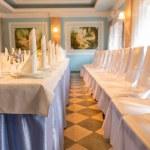 Elegant wedding venue and formal table — Stock Photo #69250725