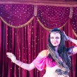 Exotic Belly Dancer with Large Snake on Stage — Stock Photo #74166145