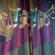 Detail of Drama Masks Embossed on Theater Curtains — Stock Photo #74166407