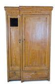 Free standing wooden wardrobe — Stock Photo