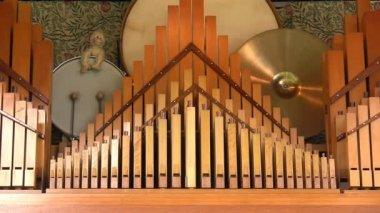 Close up of fairground organ — Stock Video