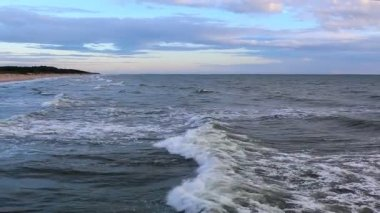 Sea view from bridge in the evening — Stock Video