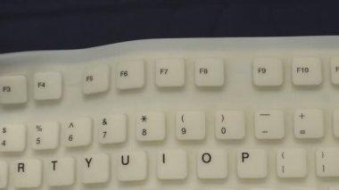 Flexible PC keyboard — Video Stock