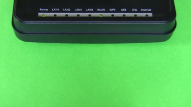 Modem on green background — Stock Video