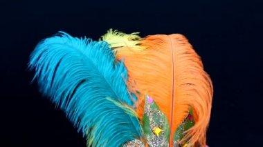カーニバルの羽 — ストックビデオ