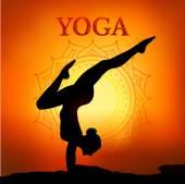 Ilustración vectorial de posturas de yoga — Vector de stock