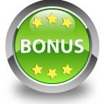 Bonus icon glossy green round button — Stock Photo #54663245