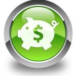 geld vak (dollar) pictogram glanzende groene ronde knop — Stockfoto #54663601