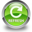 Refresh (rotate icon) glossy green round button — Stock Photo #54665347