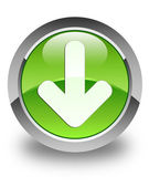 Download icon glossy green round button — Stock Photo