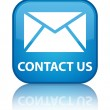 Contact us (email icon) glossy blue reflected square button — Stock Photo #56511489