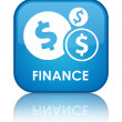 Finance (dollar) reflected glossy blue square button — Stock Photo #56511547