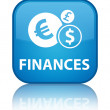Finances reflected glossy blue square button — Stock Photo #56511559