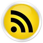 RSS feed icon yellow button — Stock Photo #56512593